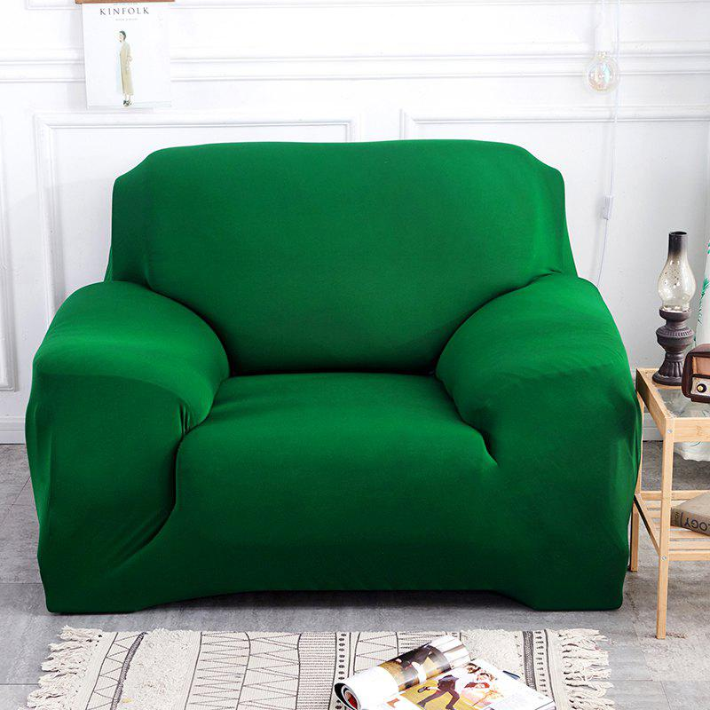 Pure Color Tight Sofa Cover - MEDIUM SEA GREEN THREE SEATS SOFA:190CM-230CM
