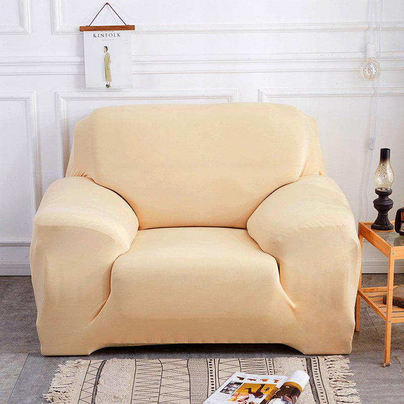Pure Color Tight Sofa Cover - BEIGE SINGLE SEAT SOFA:90CM-140CM