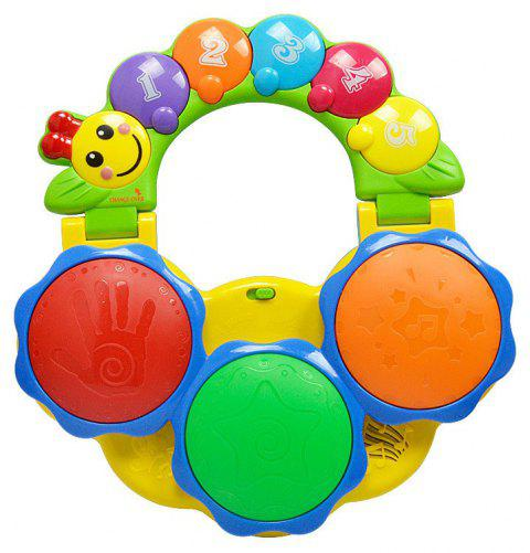 Children Educational Multifunctional Toy Hand-held Pat Drum - multicolor A