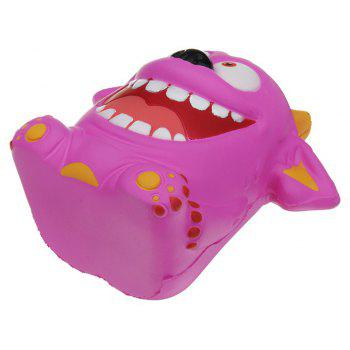 Mouth Monster Jumbo Squishy Slow Rising Cartoon Gift Collection Soft Toy - MAGENTA