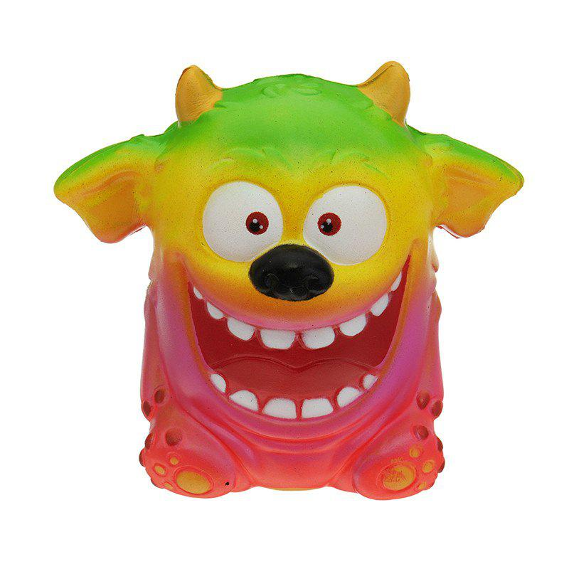 Mouth Monster Jumbo Squishy Slow Rising Cartoon Gift Collection Soft Toy - multicolor A