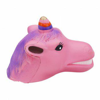 Unicorn Horse Head Jumbo Squishy Toy Slow Rising Soft Gift Collection - PINK