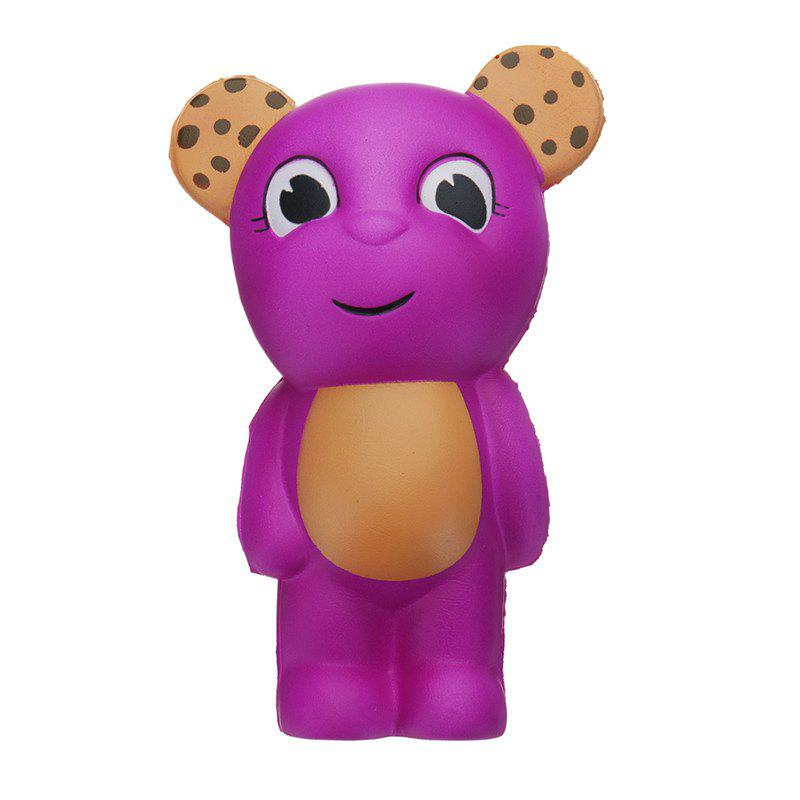 Bear Jumbo Squishy Slow Rising Cartoon Gift Collection Soft Toy - CRIMSON