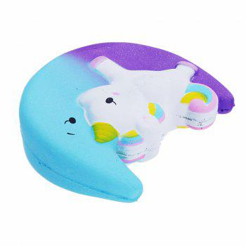 Cartoon Unicorn Moon Galaxy Pegasus Squishy Kawaii Squeeze Toy Sweet Slow Rising - multicolor A