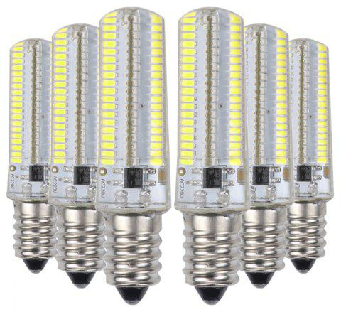 YWXLight 6PCS 7W 152LED 3014SMD Dimmable LED Silicone Bulbs AC 220V / AC 110V - COOL WHITE E12 (AC 110V)
