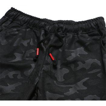 Men's Summer Fashion Camouflage Print Cropped Trousers Large Size Casual Shorts - BLACK 4XL