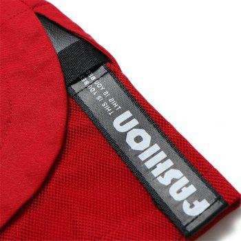 Large Size Men's Fashion Stitching Casual Pants Youth Trend Cotton Shorts - RED M