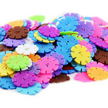 Baby Young Children Educational Toys Early Education Plastic Inserts Snowflake - multicolor