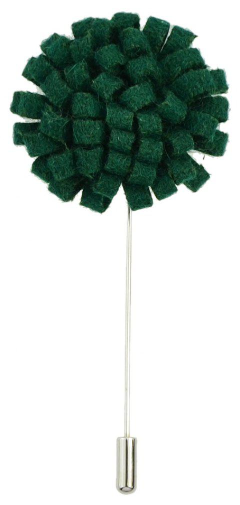 Fashion Colorful Flannel Flower Brooch Pin for Women - DEEP GREEN
