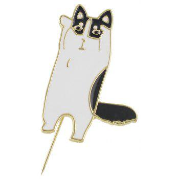 Gold-color with Enamel Cute Cat Brooches Pin - BLACK