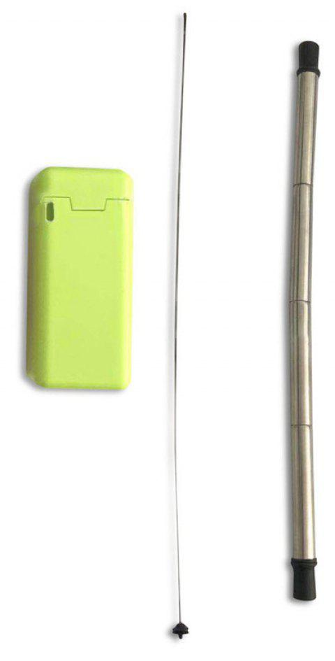 Portable Outdoor Household Stainless Steel Travel Collapsible Final Straw - TEA GREEN