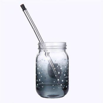 Portable Outdoor Household Stainless Steel Travel Collapsible Final Straw - GRAY