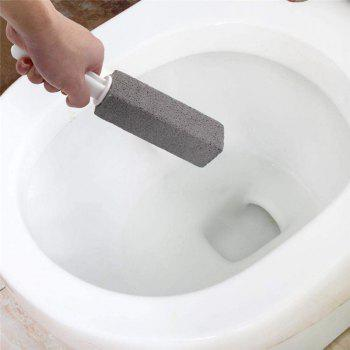 Toilet Bowl Pumice Cleaning Stone with Handle Rust Grill Griddle Cleaner 2pcs - GRAY