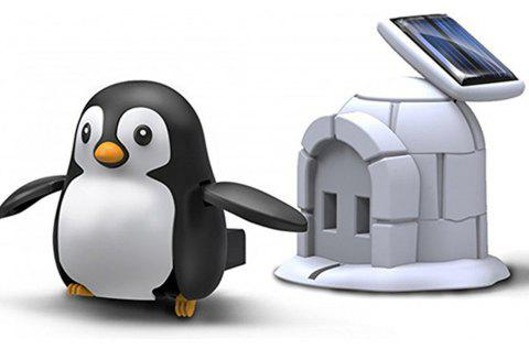 Creative DIY Solar Penguin Toy - multicolor A