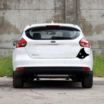 Cartoon Cat Car Sticker Reflective Personality Body - BLACK