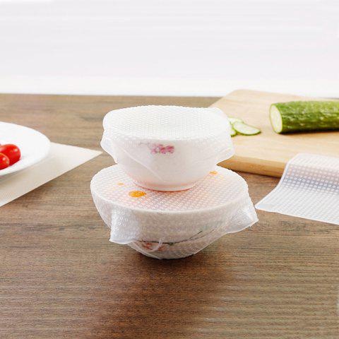 3PCS Small Medium and Large Transparent Silicone Sealing Cover Fresh Bowl - WHITE 3PCS