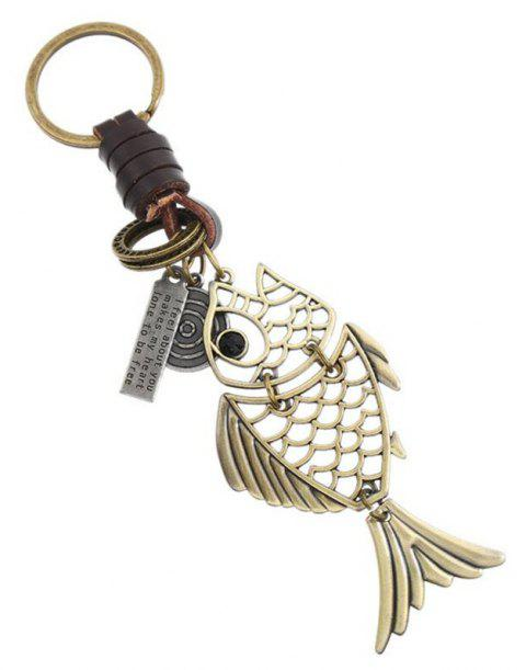 European and American Personality Innovation Retro Leather Jewelry Keychain - ANTIQUE WHITE