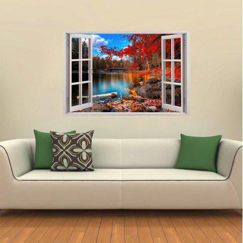Windows 3D blanc Beau paysage - multicolor D