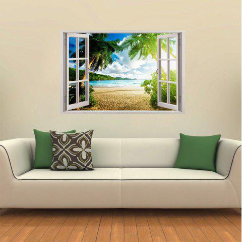 3D White Windows Beautiful Landscape - multicolor A