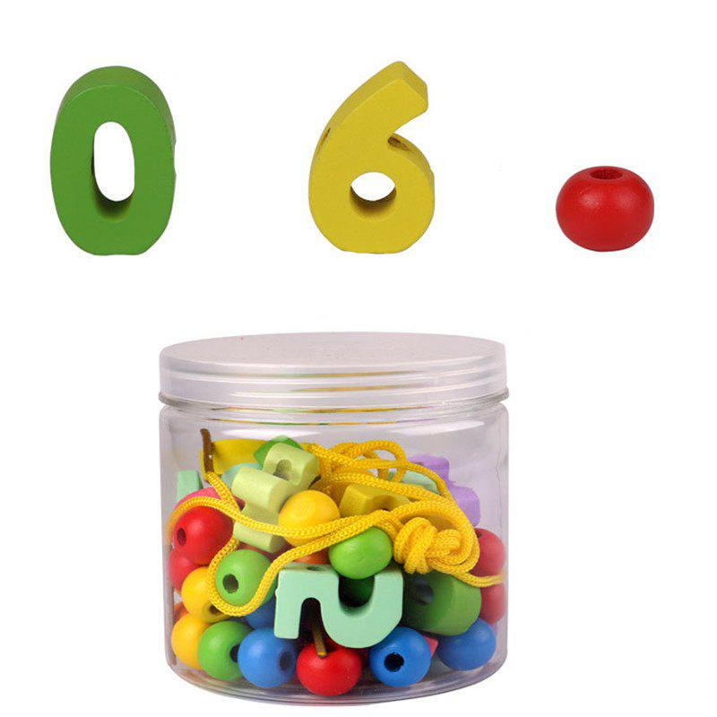 Primary Lacing Toy with 33 Beads - multicolor