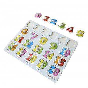 Kids Early Educational Baby Hand Grasp Wooden Puzzle Toy - multicolor B