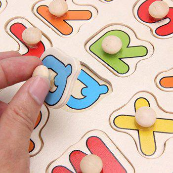 Kids Early Educational Baby Hand Grasp Wooden Puzzle Toy - multicolor A