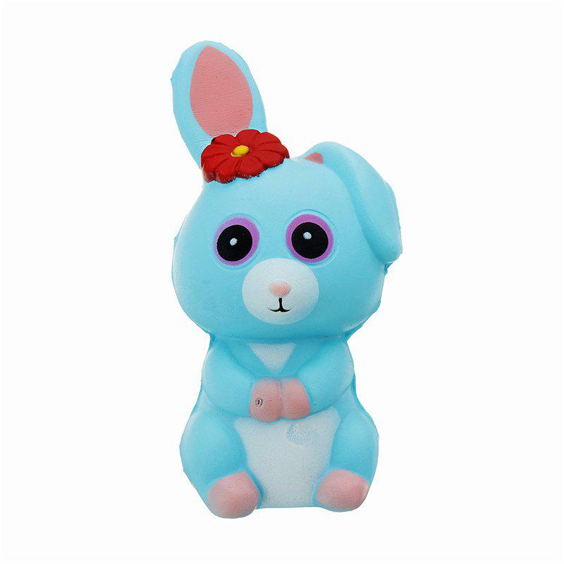 Long Ears Rabbit Jumbo Squishy Slow Rising Packaging Collection Gift Soft Toy - DEEP SKY BLUE