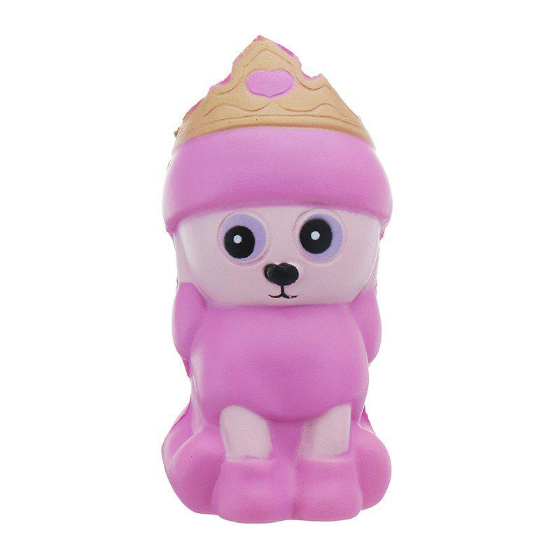 Crown Husky Jumbo Squishy Slow Rising Packaging Collection Gift Soft Toy - NEON PINK