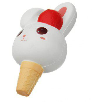 Rabbit Ice Cream Jumbo Squishy Slow Rising Packaging Collection Gift - WHITE