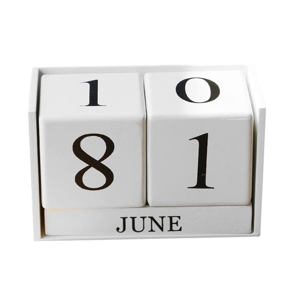 Wood Creative Photography Props Home Calendar Ornament - WHITE