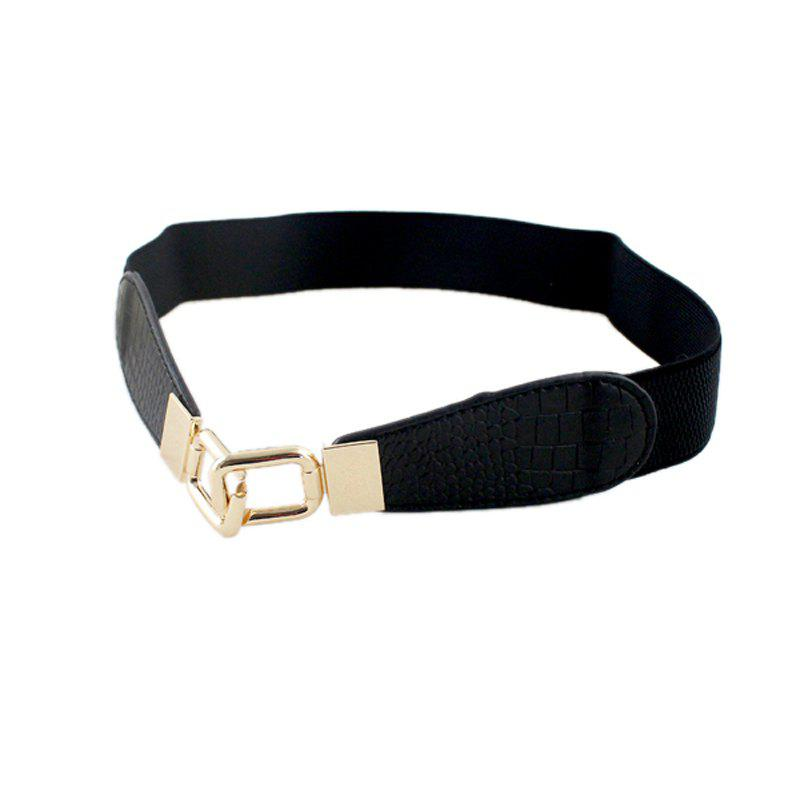 New Fashionable Individual Leisure Elastic Belt - BLACK