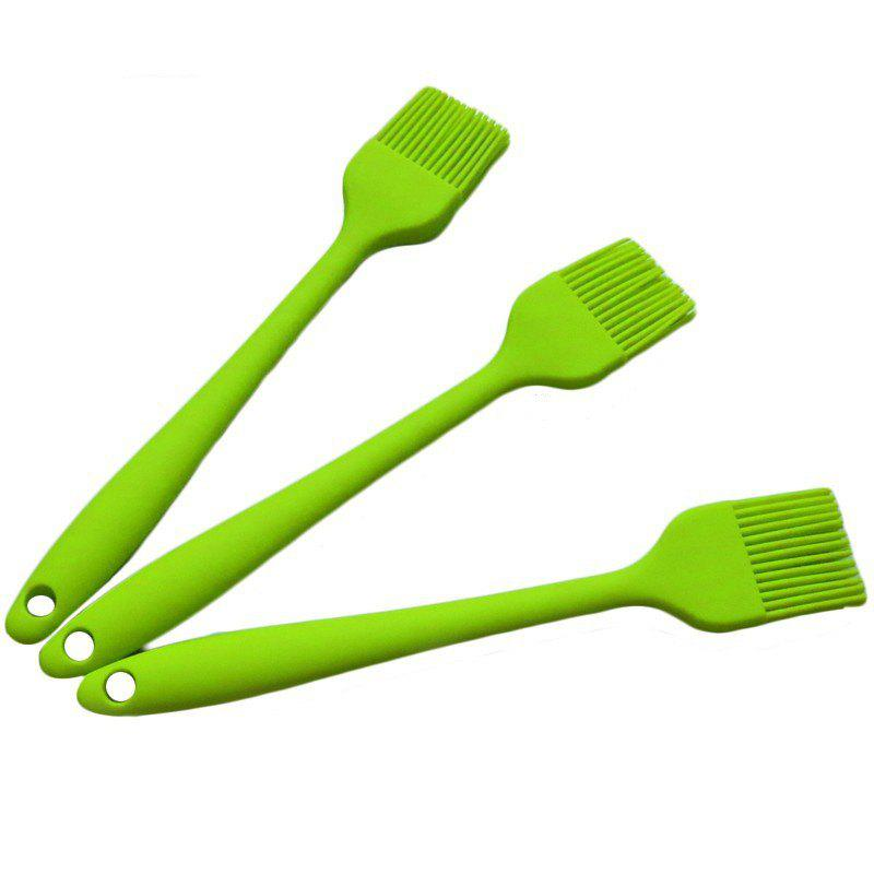 Silicone BBQ Brush Kitchen Tool Bread Cookie Cream 1Pc - GREEN