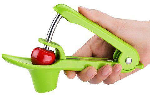 Cherry Pitter Cherry Stoner Remover Outil Silicone Olive Pitter Corer Quick - Vert