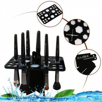 Makeup Brush Tree Holder Folding Collapsible Air Drying Rack - multicolor A