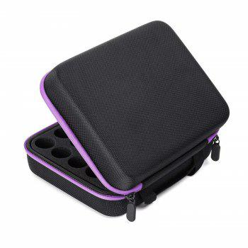 Carrying Case  Hard Shell Exterior EVA Essential Oils Storage - PURPLE 5ML/10ML/15ML