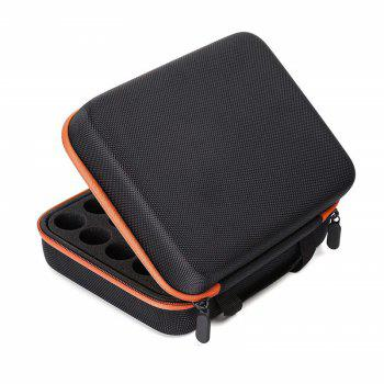 Carrying Case  Hard Shell Exterior EVA Essential Oils Storage - ORANGE 15ML