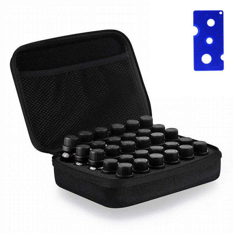 Carrying Case  Hard Shell Exterior EVA Essential Oils Storage - BLACK 5ML/10ML/15ML
