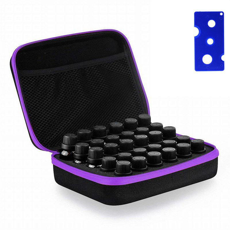 Carrying Case  Hard Shell Exterior EVA Essential Oils Storage - PURPLE 15ML
