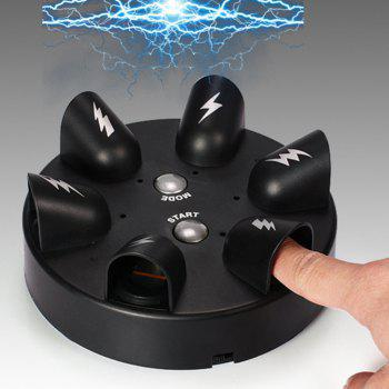 Party Funny Game Punishment Props Roulette Lucky Electric Shock Finger - BLACK