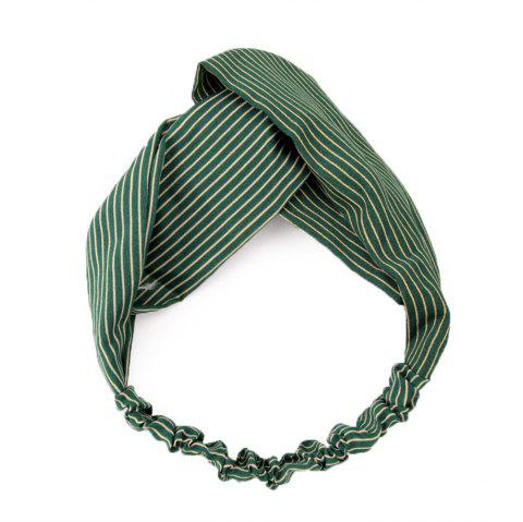Women's Crossover and Simple Fashion Hair Belt - GREENISH BLUE