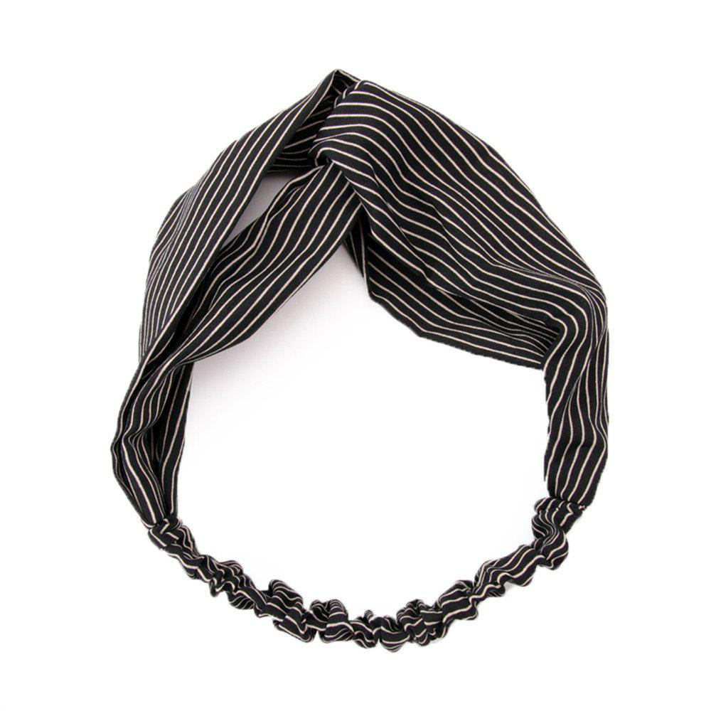 Women's Crossover and Simple Fashion Hair Belt - BLACK