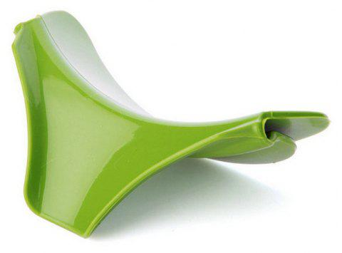 Anti-spill Silicone Slip on Pour Soup Spout Funnel for Pot Pan Kitchen Tool - GREEN