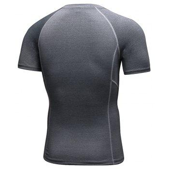 Men's Workout Athletic Compression T-shirt - GRAY XL