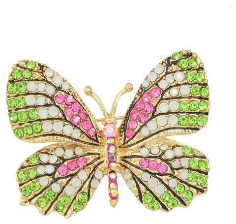 Colorful Rhinestone Lovely Butterfly Brooches - multicolor B