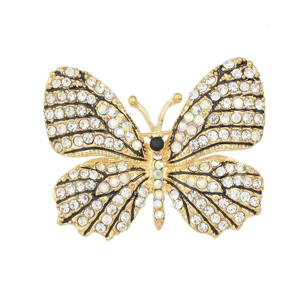 Colorful Rhinestone Lovely Butterfly Brooches - multicolor D