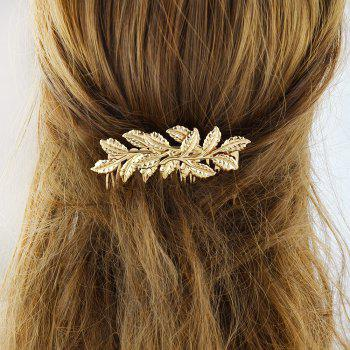 Fashion Individual the Gold-color Leaf Hair Combs - GOLD