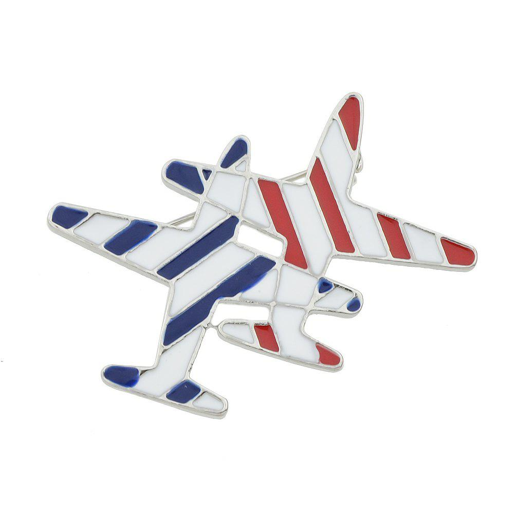 Lovely Enamel Aircraft Brooches Pins for Fashion Lady - WHITE