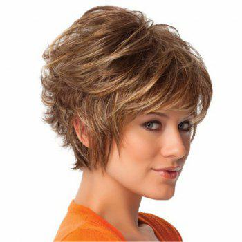 Golden Fluffy Micro Curly Short Wig - GOLD 12INCH