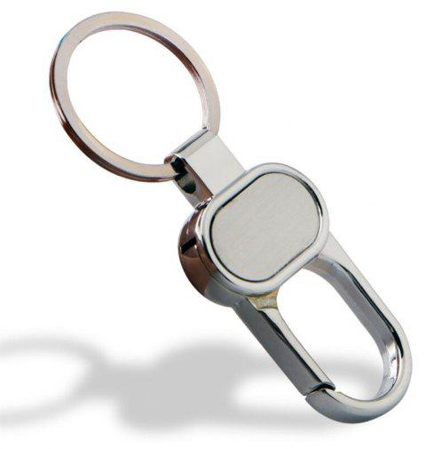 European and American High Quality Zinc Alloy Double Ring Keychain - SILVER