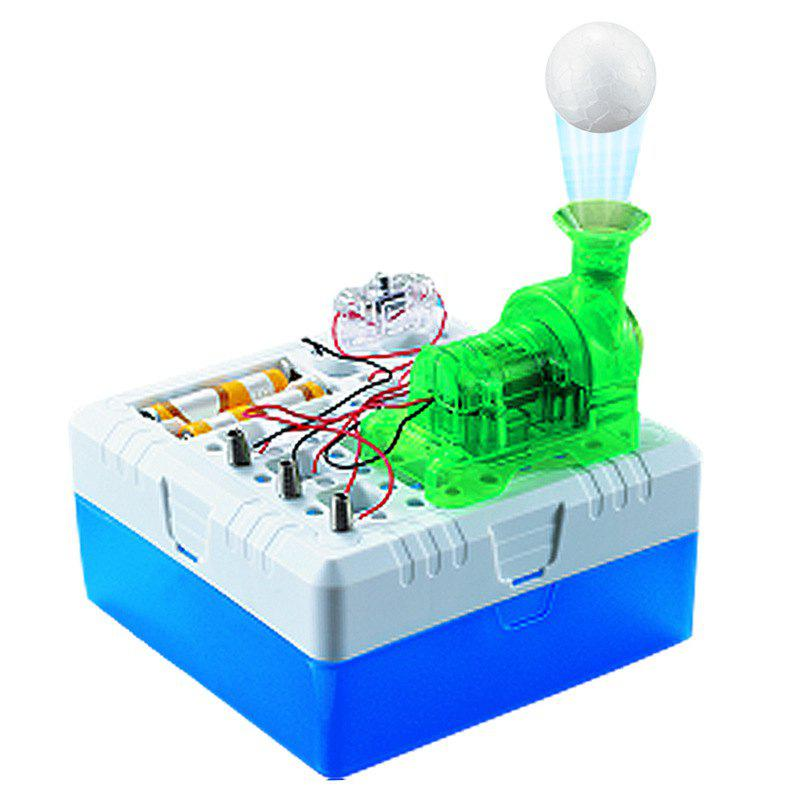Turbo Air Suspended Ball Toy DIY Kit Electronics Physical Science Education Tool - WHITE
